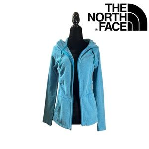 Blue The North Face Thermal Full Zip Fleece Hoodie Sweater Cardigan